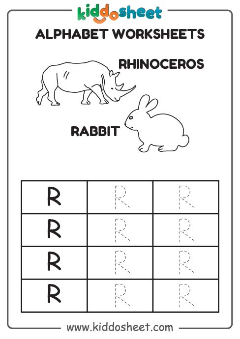 tracing alphabet, tracing worksheet for kids, tracing worksheet for preschool
